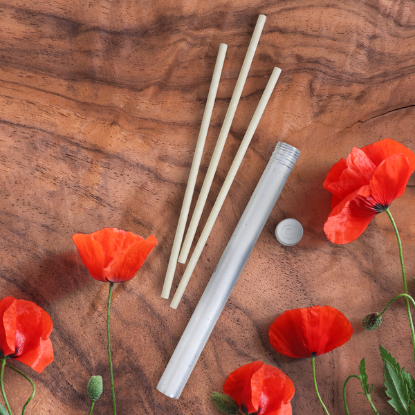 Red Poppies + Rosewood Scent Stix™ Refills 3pc stix and recyclable aluminum tube