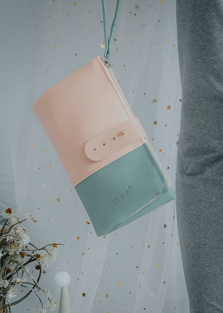 Pink Mint Leather Organiser
