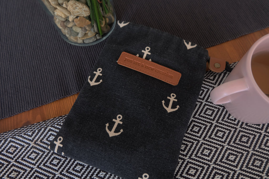 Anchor (you are a new creation) Drawstring Pouch