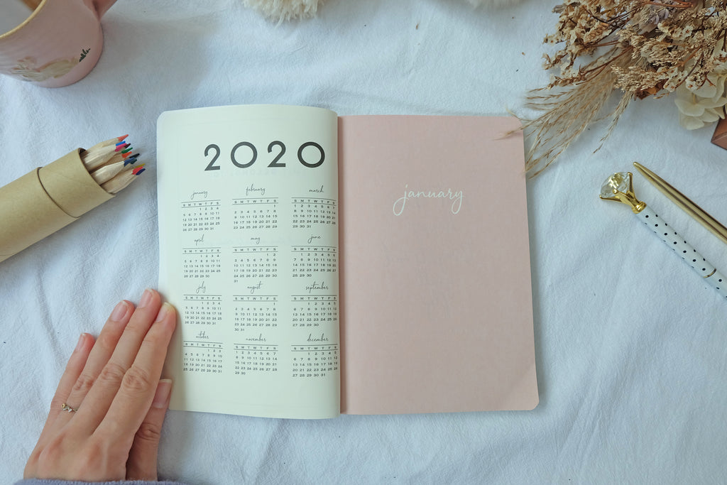 {Minor Defect with Stickers Sheet} Planner 2020