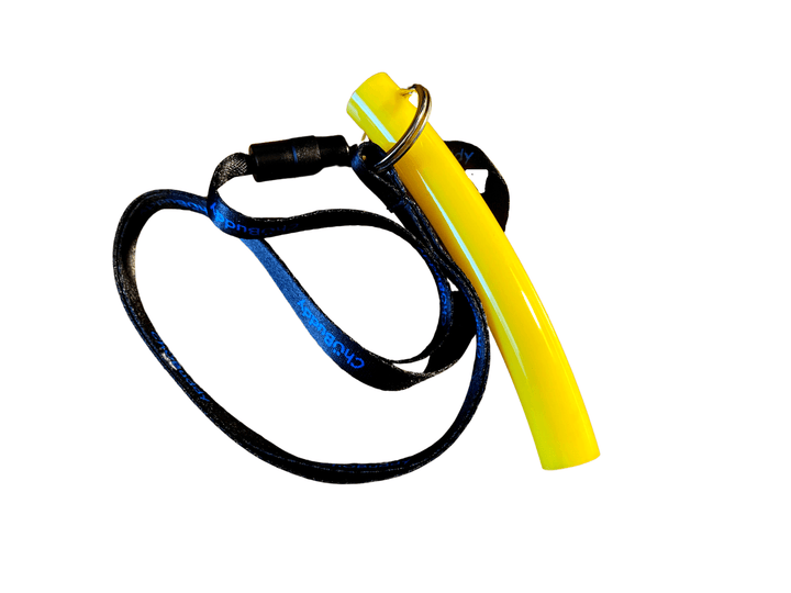 "Big Stong Tube-9/16"" on neck lanyard Strong chews Chubuddy Yellow"