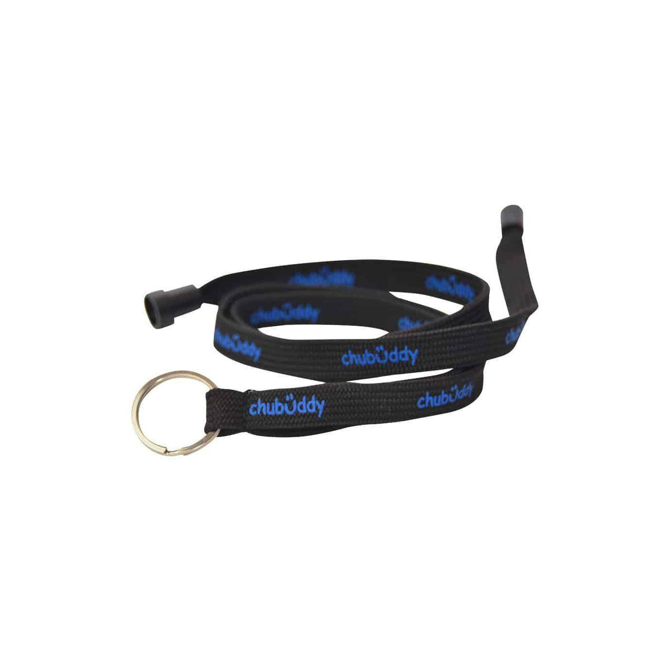 Neck Lanyard Black Chew Holder for Chews, black lanyard with natural strap