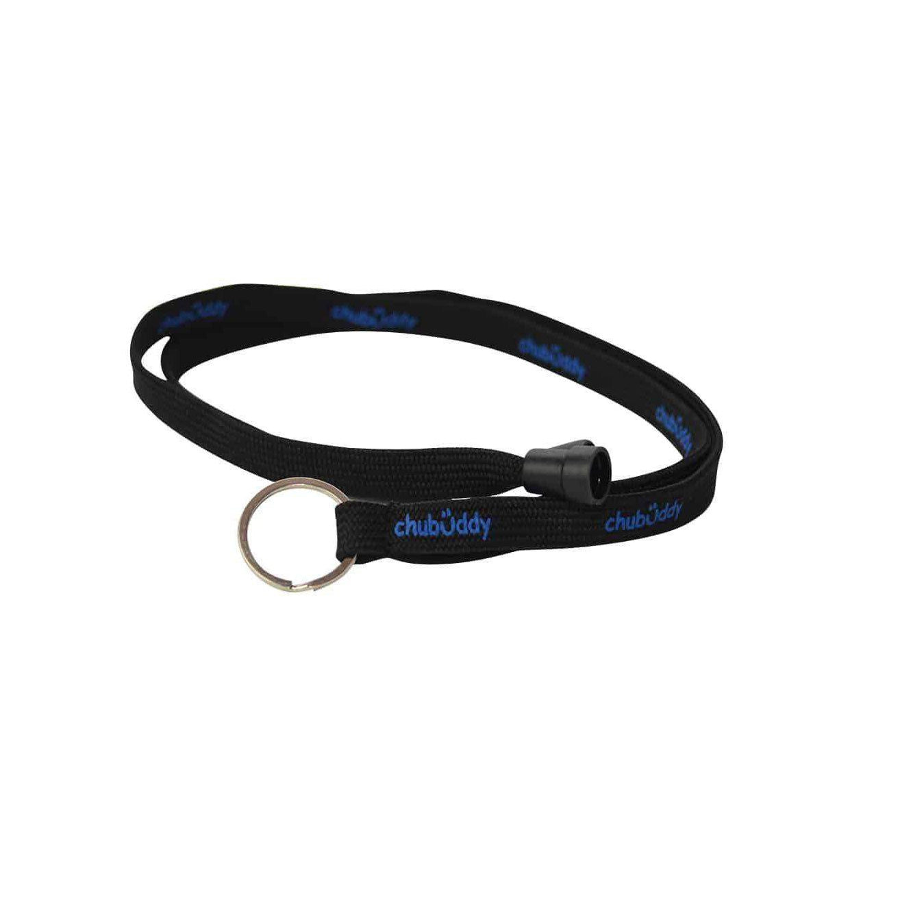 Neck Lanyard Chew Holder Black with Blue Chew Stixx* *Reg Mark Sensory University
