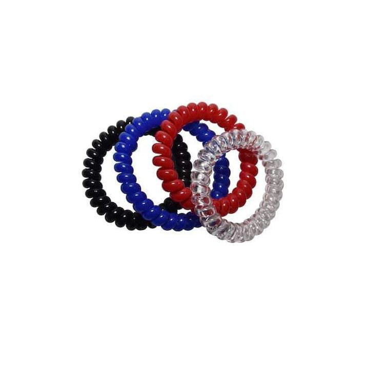 Spiralz Chewable Fidget 4 Bracelets for Autism, ADHD, Sensory Processing, Special Needs Boys and Girls- For Light Chewers Only- by chubuddy (Blue)