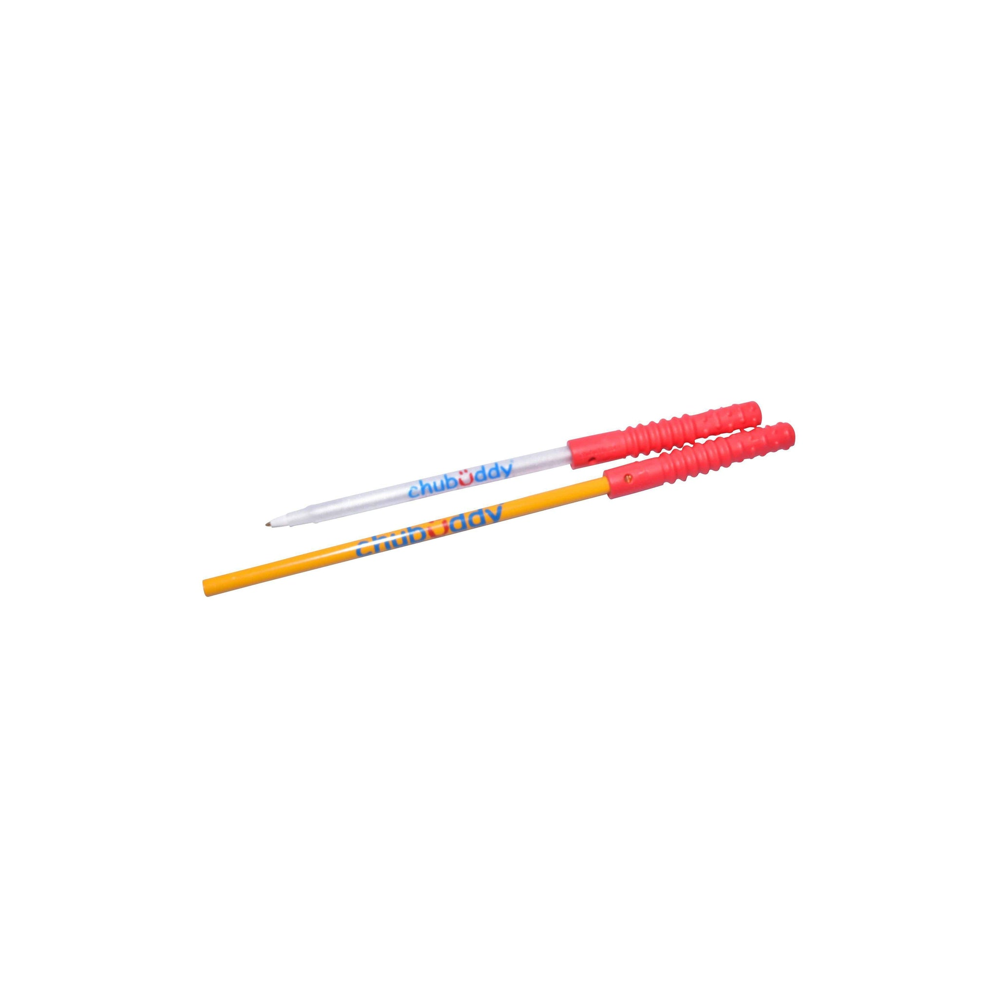 Topper Zilla, Red, Super Strong With Pencil | 70A Durometer Soft | Chew Factor 3.0 Strong | Keeps Pens and Pencils Free From Damage | 2 Textured Chew Zones