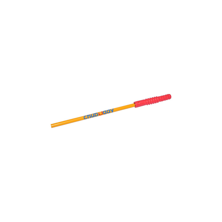 Topper Zilla, Red, Super Strong With Pencil | 70A Durometer Soft | Chew Factor 3.0 Strong | Keeps Pens and Pencils Free From Damage | 2 Textured Chew Zones Strong chews Chubuddy