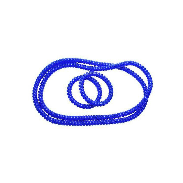 Spiralz Chewable Fidget 2 Bracelet/2 Necklace Spiralz Combo2 for Autism, ADHD, Sensory Processing, Special Needs Boys and Girls- For Light Chewers Only- 2 bracelets and 2 necklaces by chubuddy (Blue)