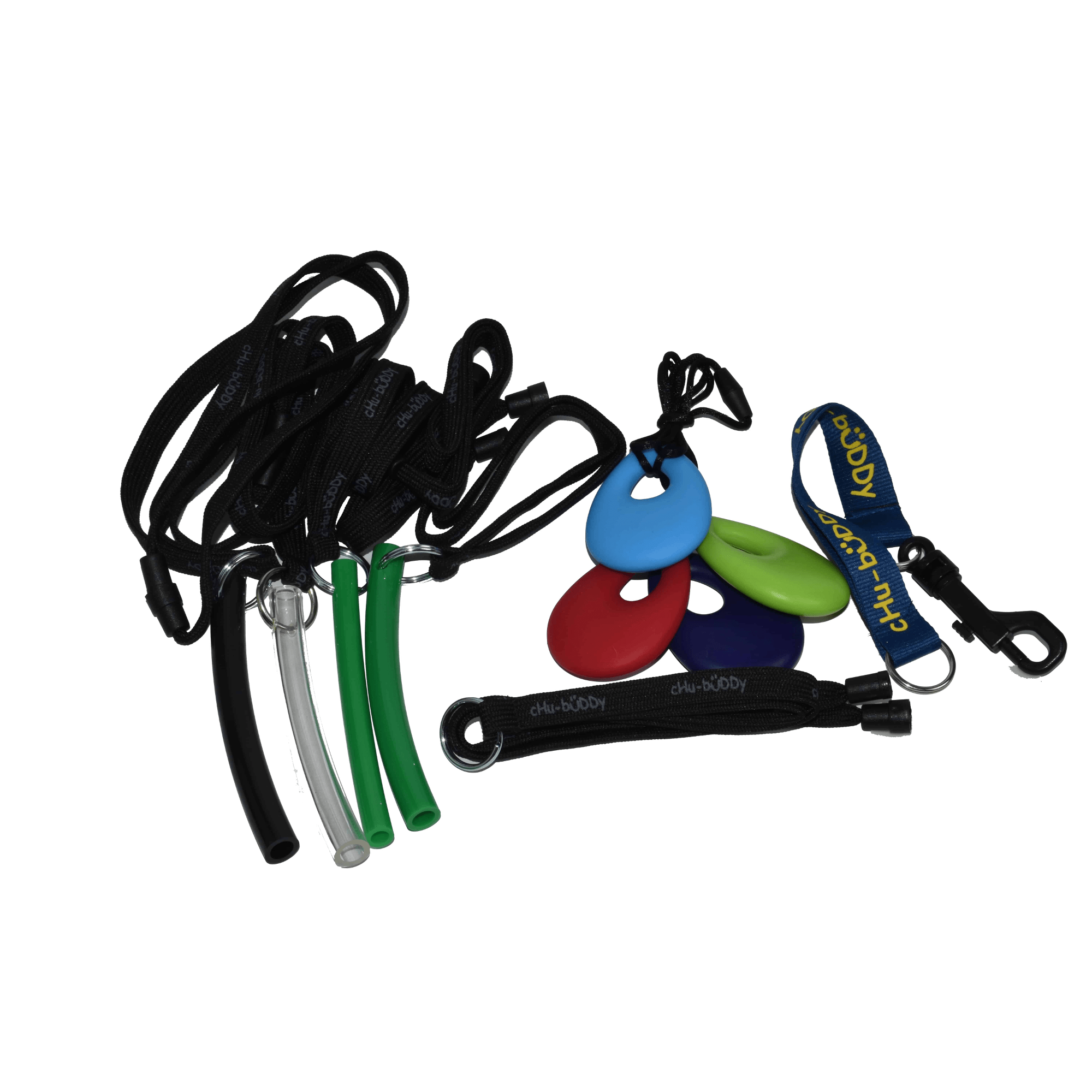 Factory Seconds chew holder clip on- random colors, shoulder or neck lanyard- Orig $6.99 to $7.99