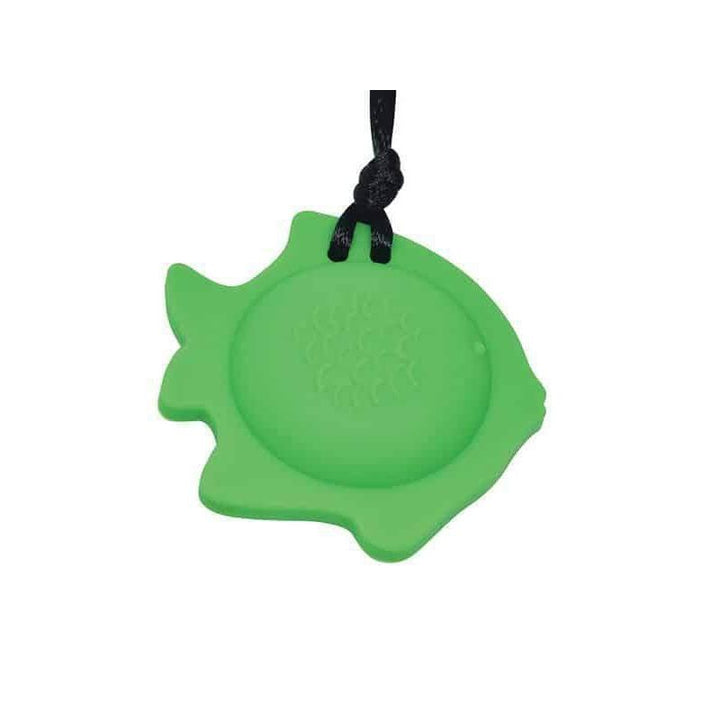 Fish Chew Pendant With Breakaway Clasp Necklace- Fern Color Chews & Pendants Chubuddy