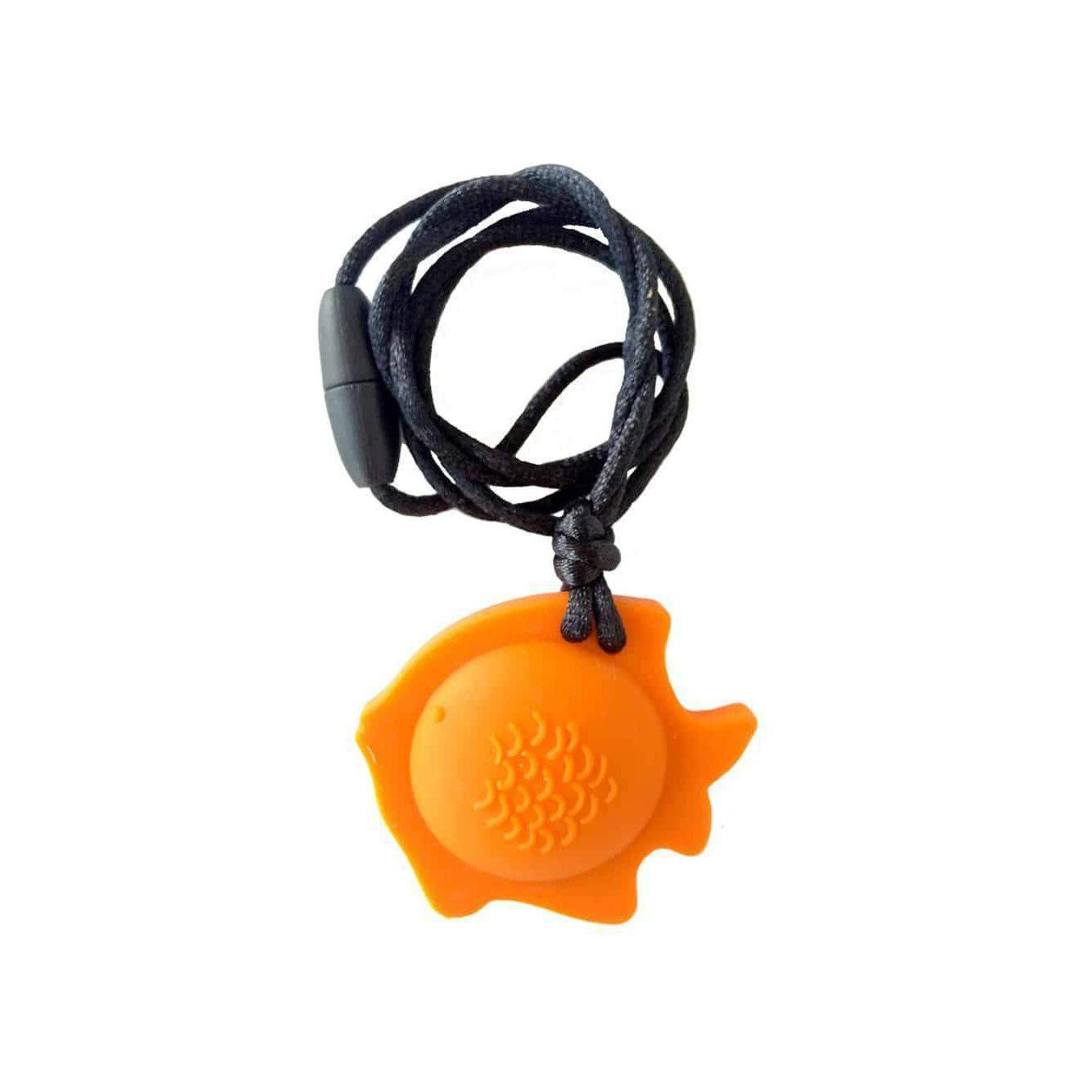 Fish Chew Pendant With Breakaway Clasp Necklace- Terra-Cotta