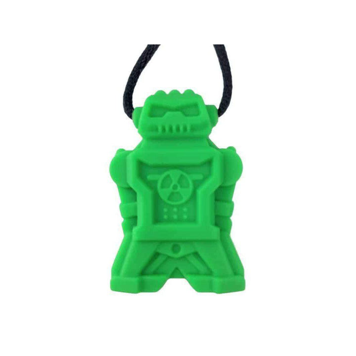 Robot Chew Pendant With Break Away Clasp Necklace- Green Color Chews & Pendants Chubuddy