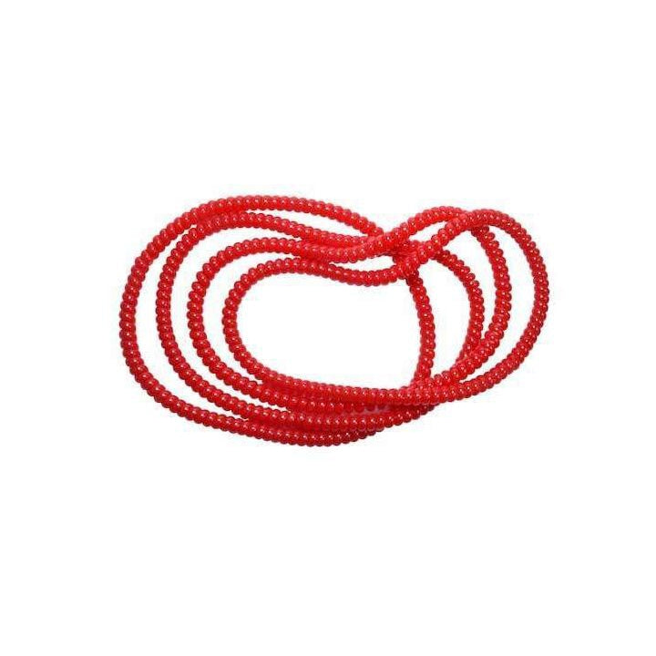 Spiralz Chewable Fidget 4 Necklaces for Autism, ADHD, Sensory Processing, Special Needs Boys and Girls- For Light Chewers Only- by chubuddy (Red)