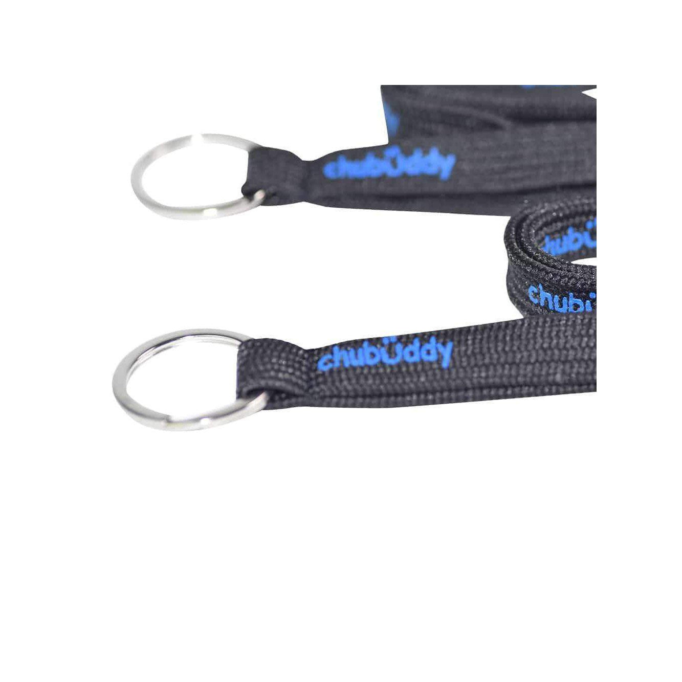Neck Lanyard Chew Holder Set of (2) - 2 Black Lanyard & 2 Natural Strap