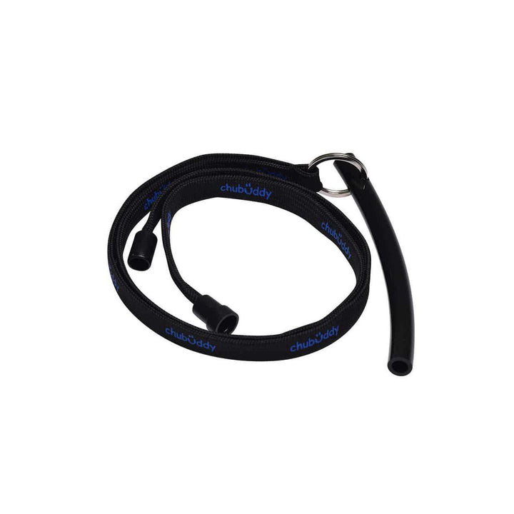 "Neck Lanyard With Strong Tube Slim 3/8"" Black Color"