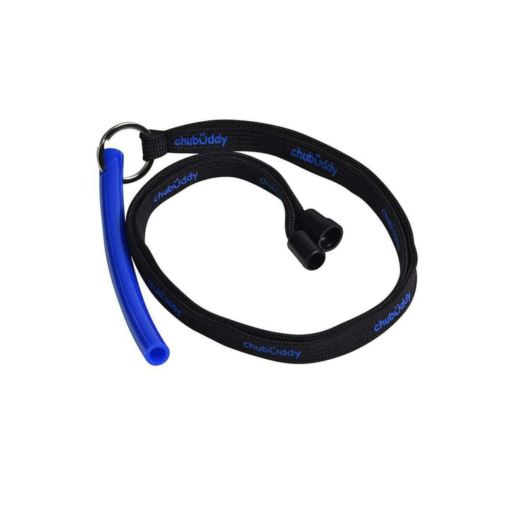 "Neck Lanyard With Strong Tube 3/8"" Slim Blue Color"