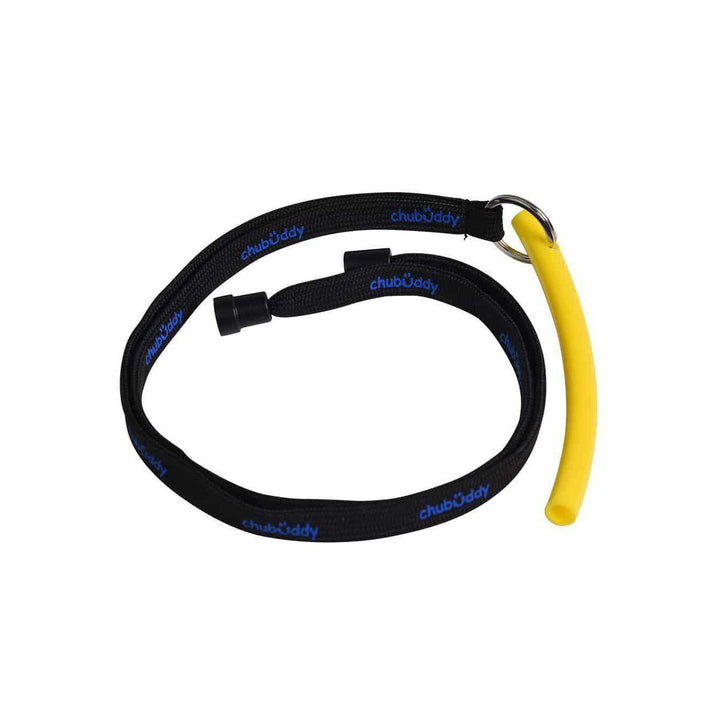 "Neck Lanyard With Strong Tube Slim 3/8"" Yellow Color Neck Lanyard And Strong Tube Slim Chubuddy"
