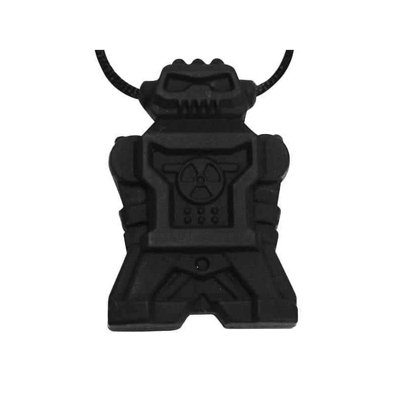 Robot Chew Pendant With Break Away Clasp Necklace- Black Color