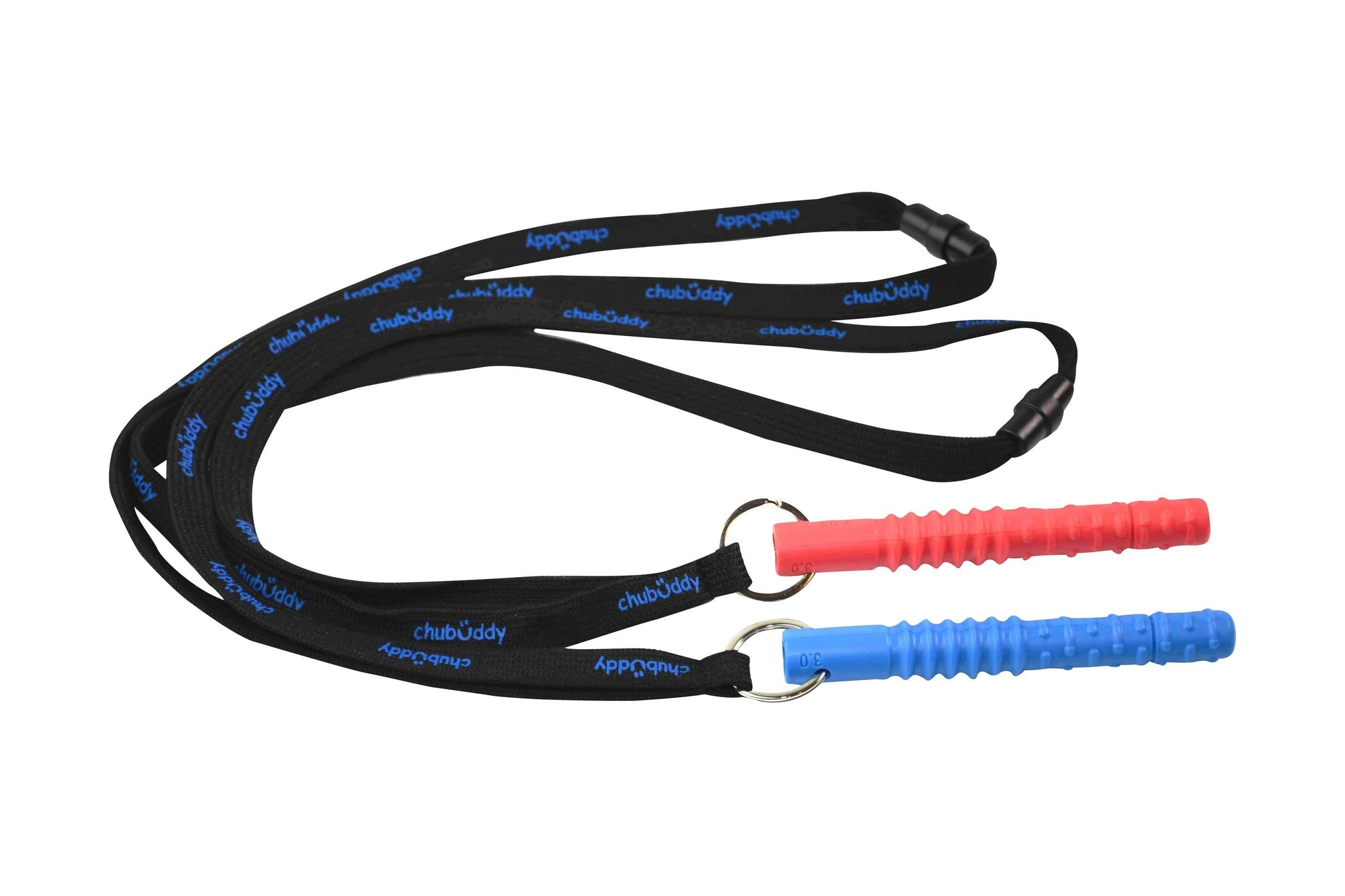 Tube Zilla, Red On Neck Lanyard | 70A Durometer Soft | Chew Factor 3.0 Strong | For Larger Mouths