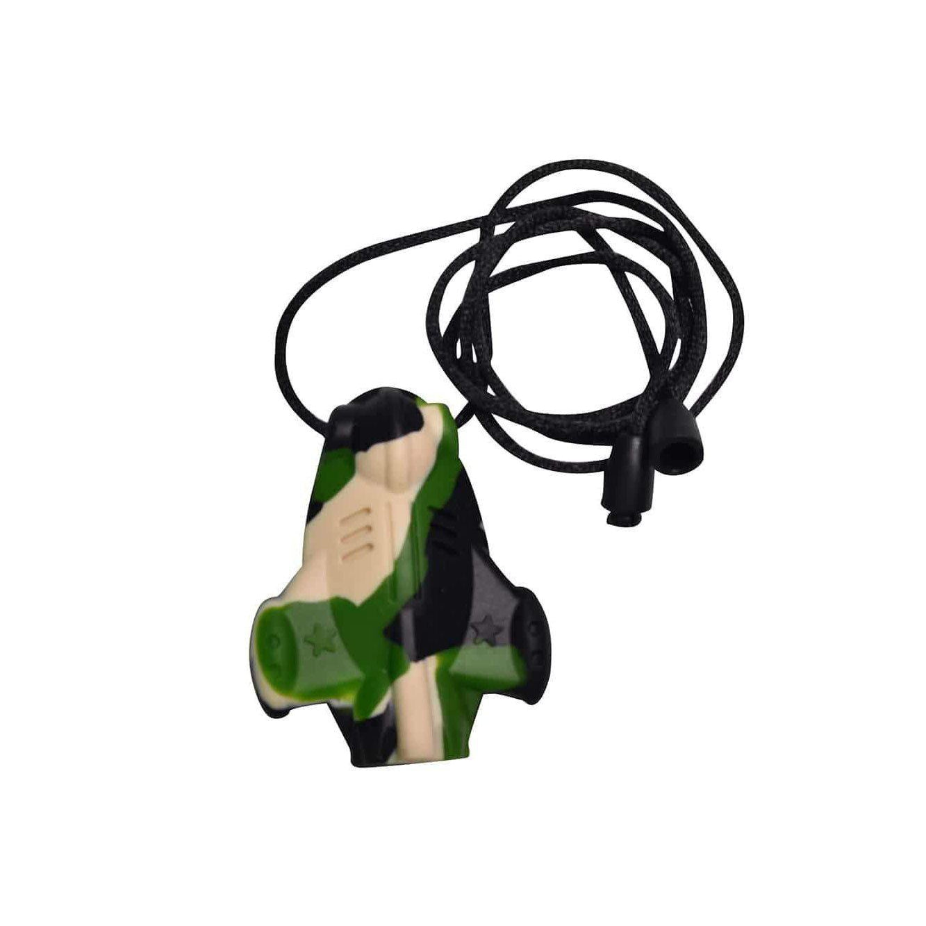SpaceJet Chew Pendant With Break Away Clasp Necklace- Army Camo