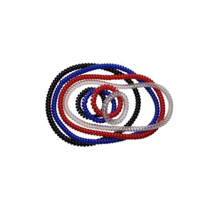 Spiralz Chewable Fidget 4 Bracelets for Autism, ADHD, Sensory Processing, Special Needs Boys and Girls- For Light Chewers Only- by chubuddy (Red)