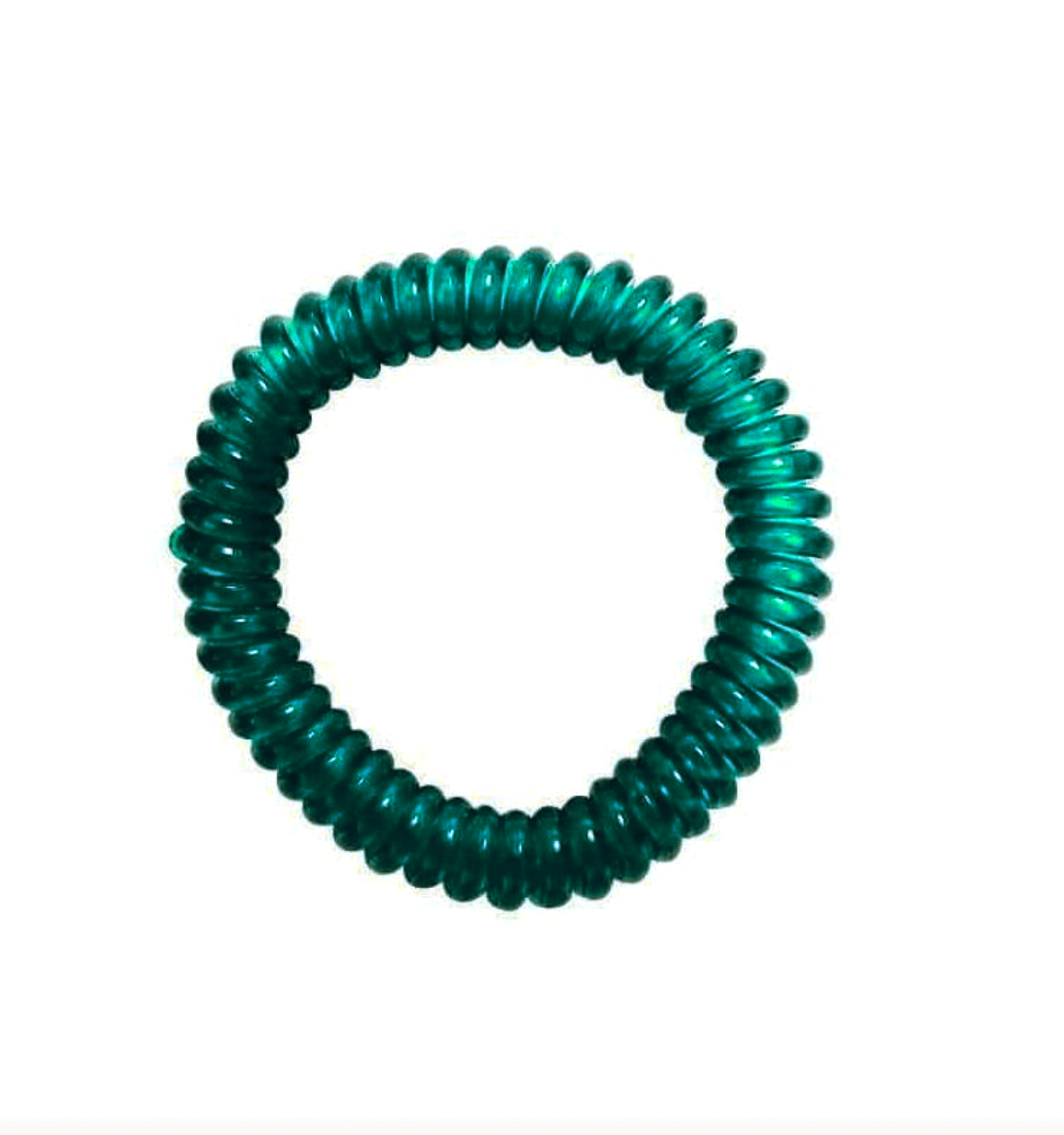 springz Chew Bracelet- Clear Teal Green Color