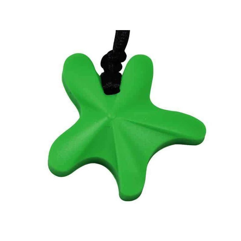 Starfish Chew Pendant- Fern Color