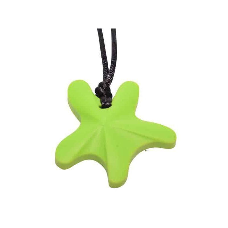 Starfish Chew Pendant- Lime Color