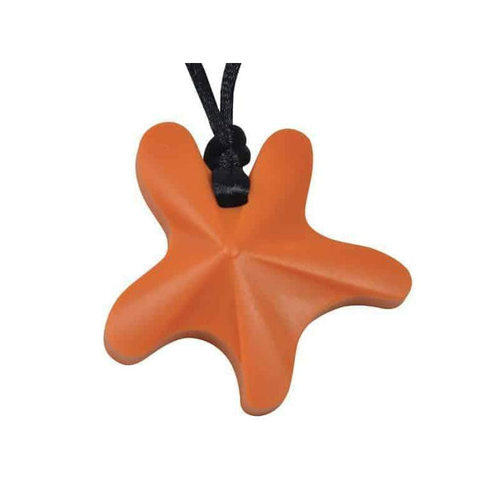 Starfish Chew Pendant-Orange Color Chews & Pendants Chubuddy