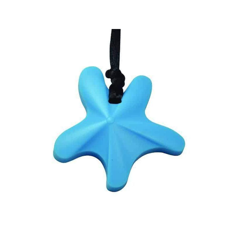 Starfish Chew Pendant- Sky Blue Color