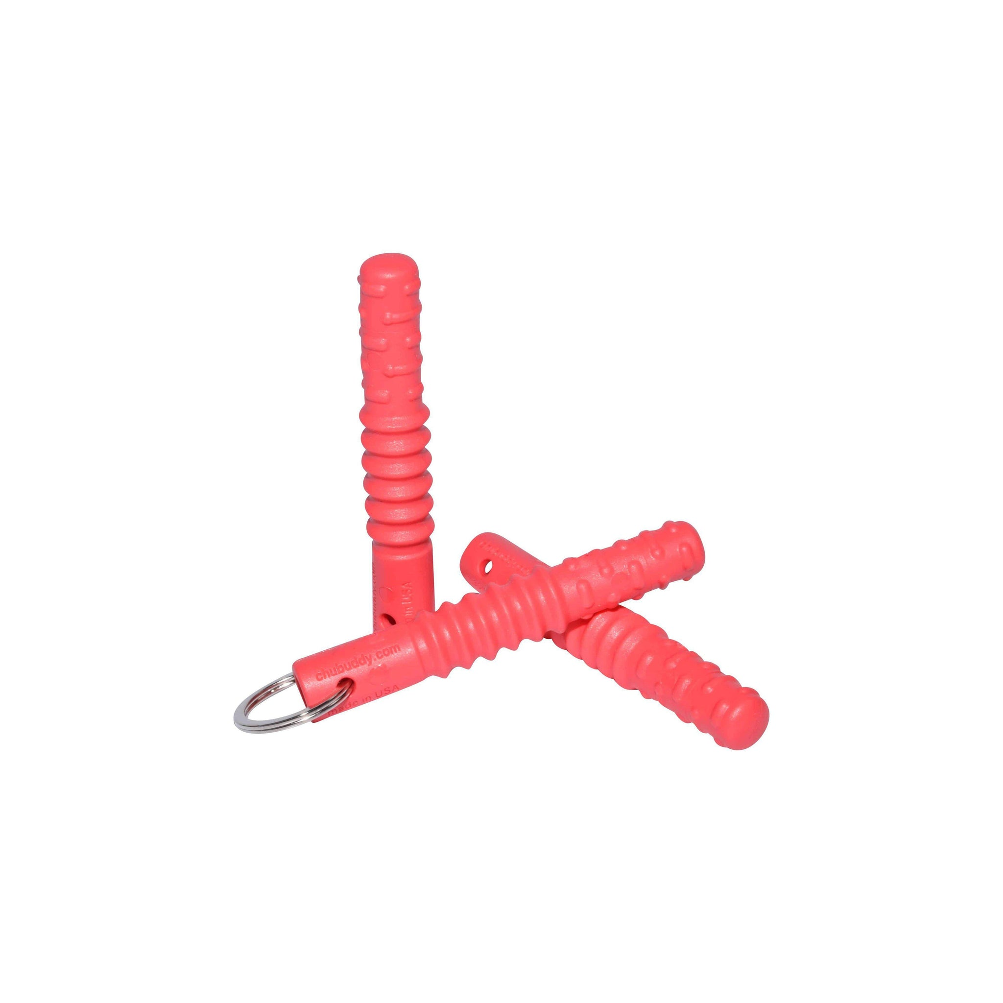 Zipper Zilla, Red  | 70A Durometer Soft | Chew Factor 3.0 Strong | Attaches to Most Zippers | Easy Access