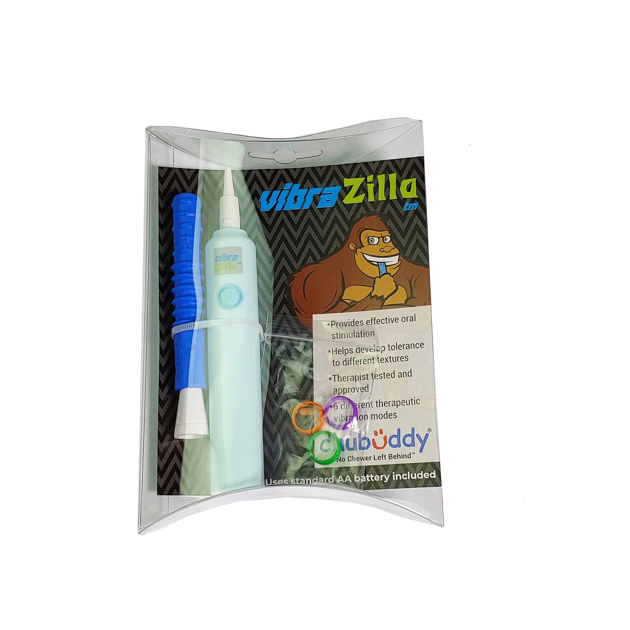 VibraZilla Sensory Vibration Handle with Textured Blue Zilla Jr Tube  VIBRZIL-TXT-BLU