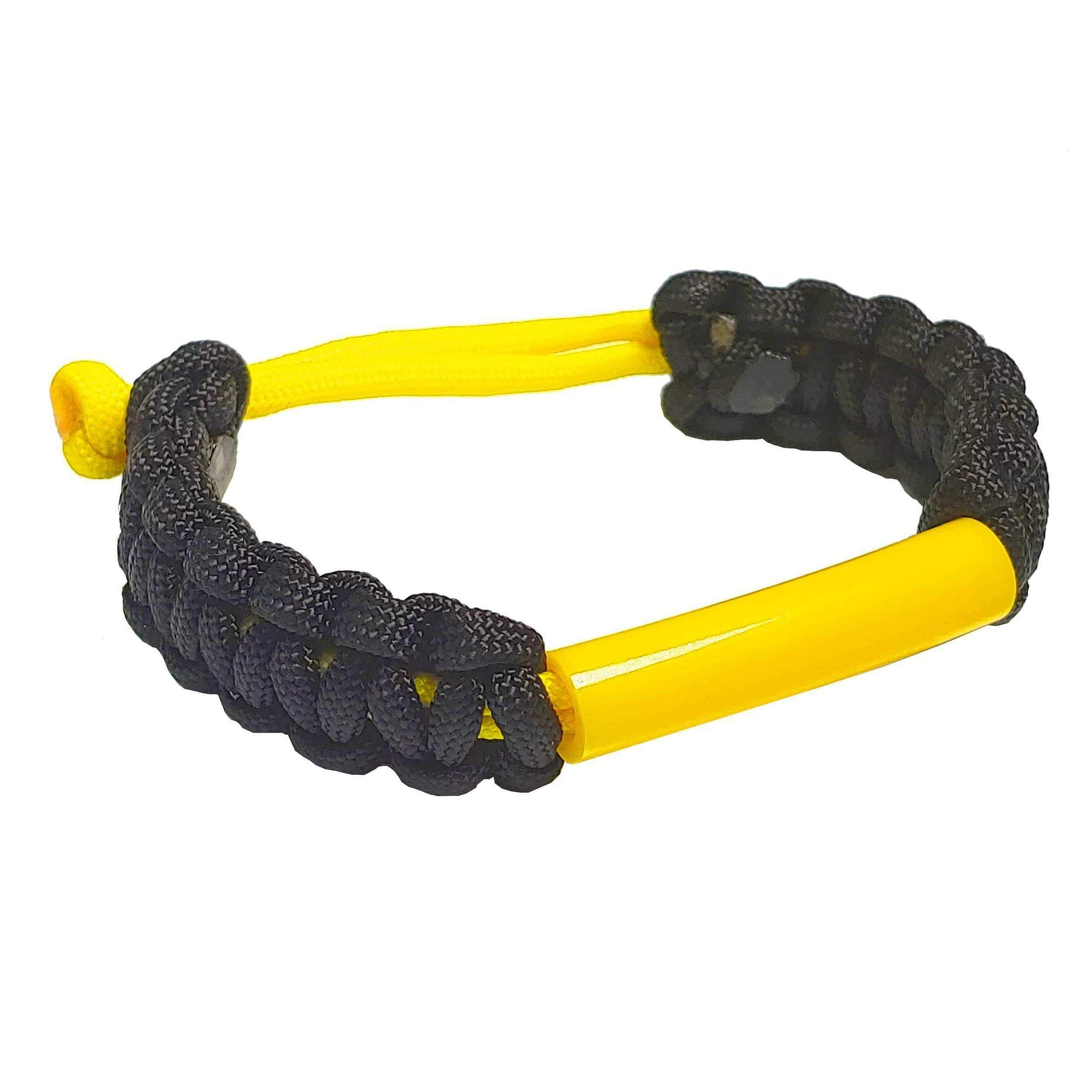 Parachewer Bracelet Yellow, non-toxic, ballistic nylon bracelet with Slim Strong Tube- IMPORTANT:  Pick correct size using the sizing chart-   PARACHWR-YEL