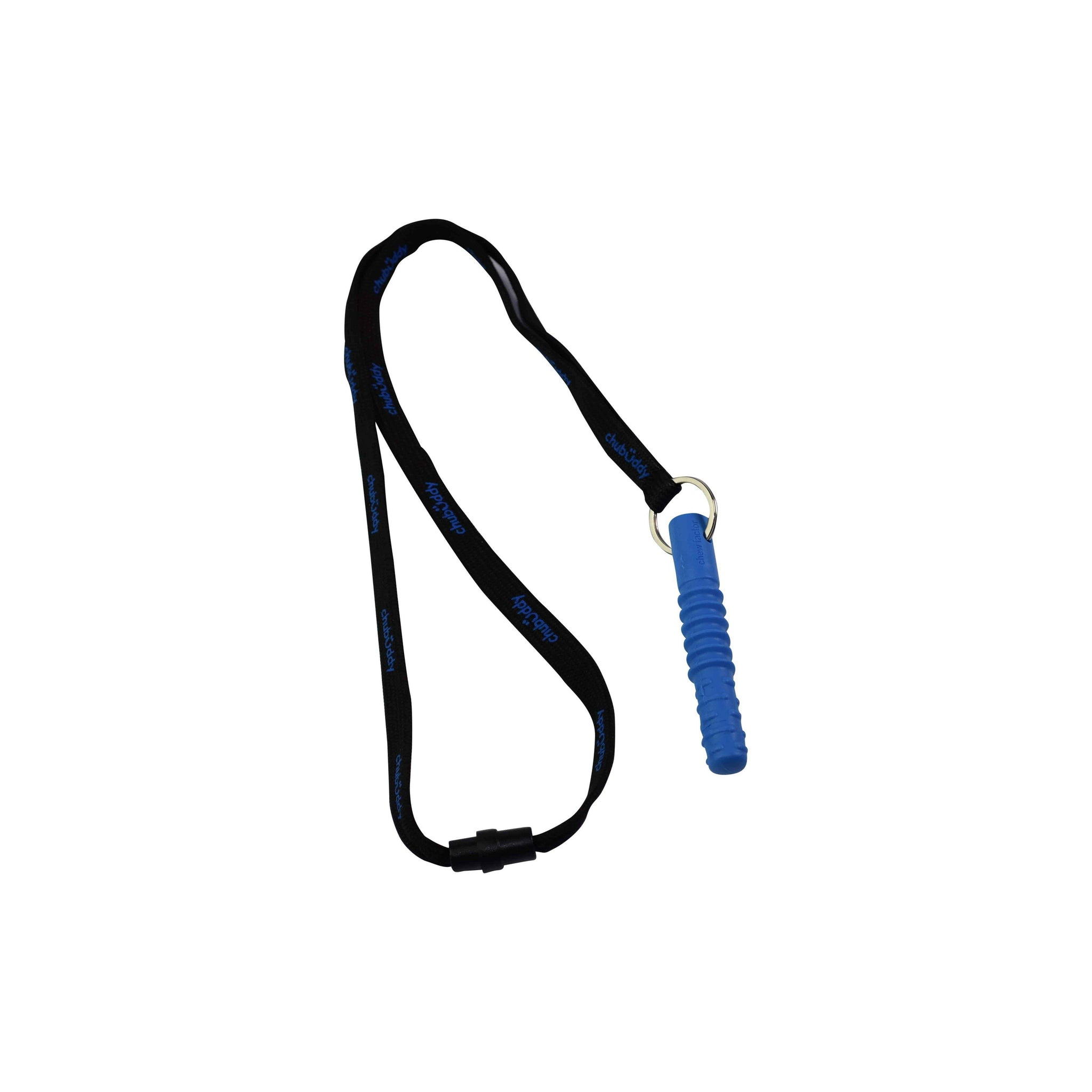 Tube Zilla Jr, Blue On Neck Lanyard  | 70A Durometer Soft | Chew Factor 3.0 Strong |  For Smaller Mouths