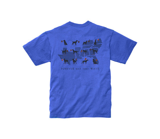 Boys - Forever May They Wave Short Sleeve Tee: River Blue