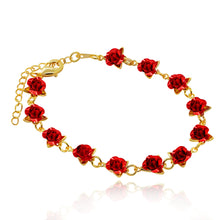 Load image into Gallery viewer, Dozen Roses Charm Bracelet