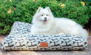 Piney Apples Dog Crate Bed