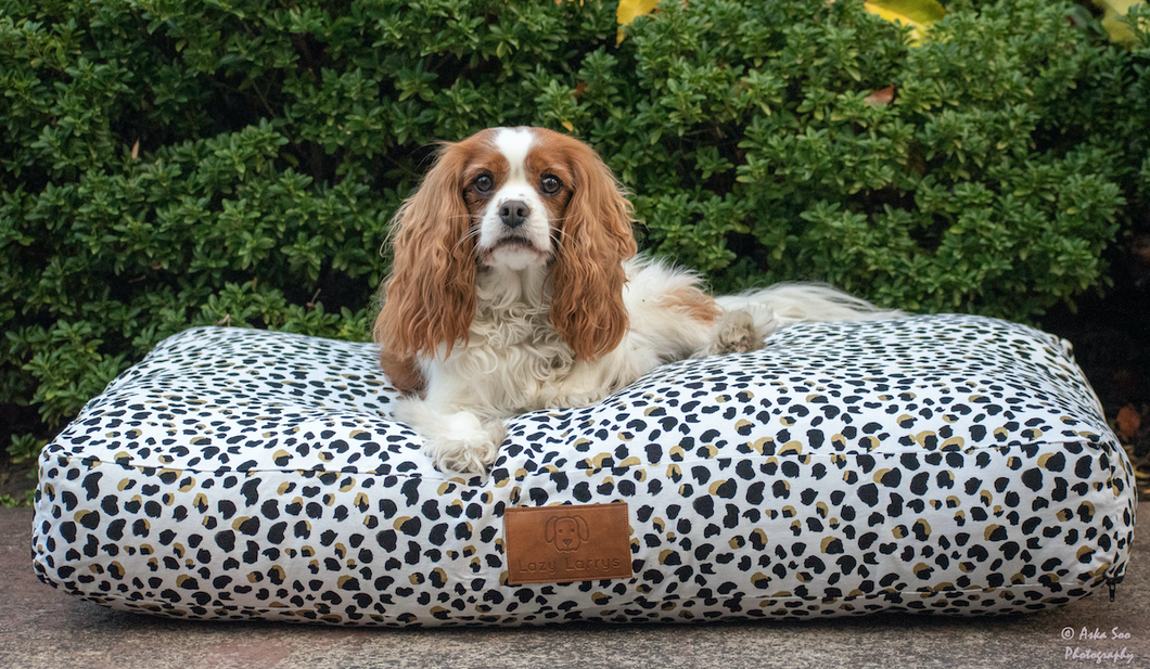 Lazy Leopard Dog Bed