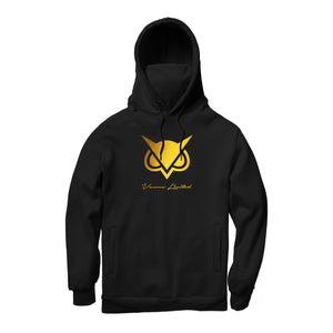 VANOSS® | GOLD LOGO MASKED HOODIE (BLACK) LIMITED EDITION