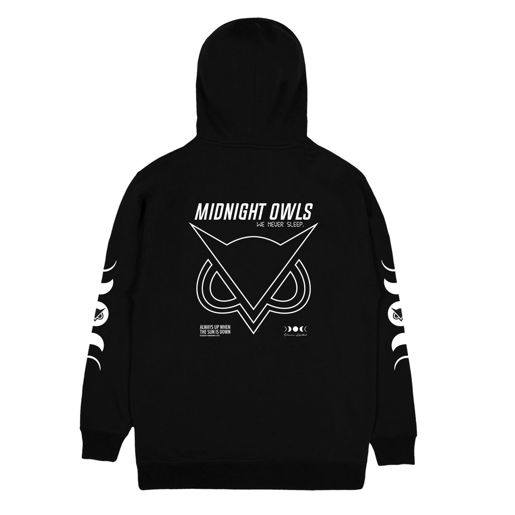 VANOSS® | MIDNIGHT OWLS HOODIE (BLACK) LIMITED EDITION