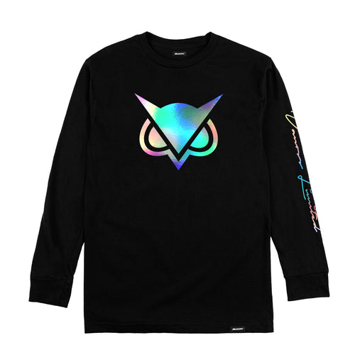VANOSS® | HOLOGRAPHIC LOGO LONG-SLEEVE TEE (BLACK) LIMITED EDITION