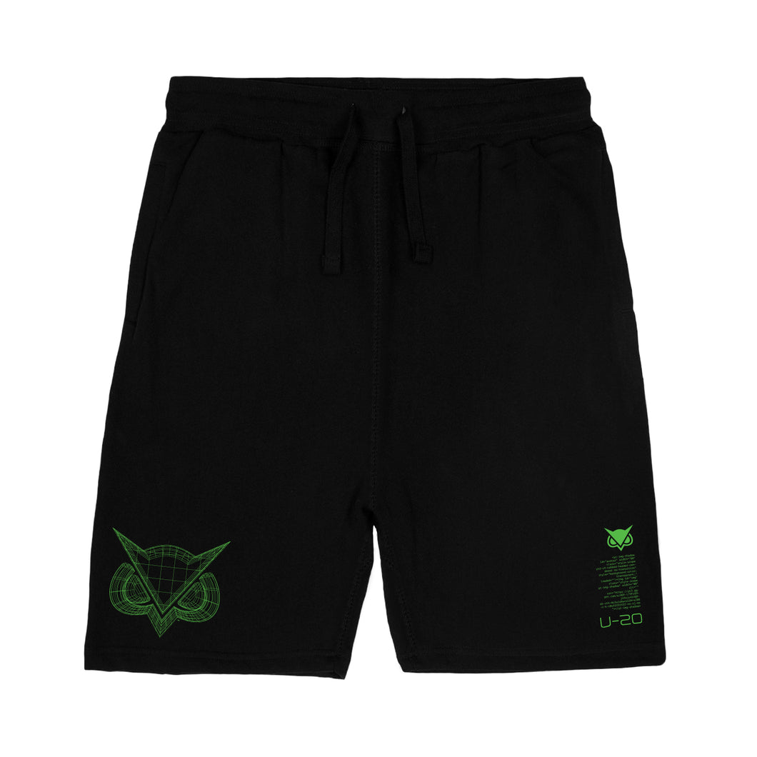 VANOSS® | WIREFRAME SWEAT SHORTS (BLACK)