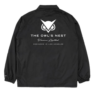VANOSS® | OWL COACH JACKET (BLACK) LIMITED EDITION