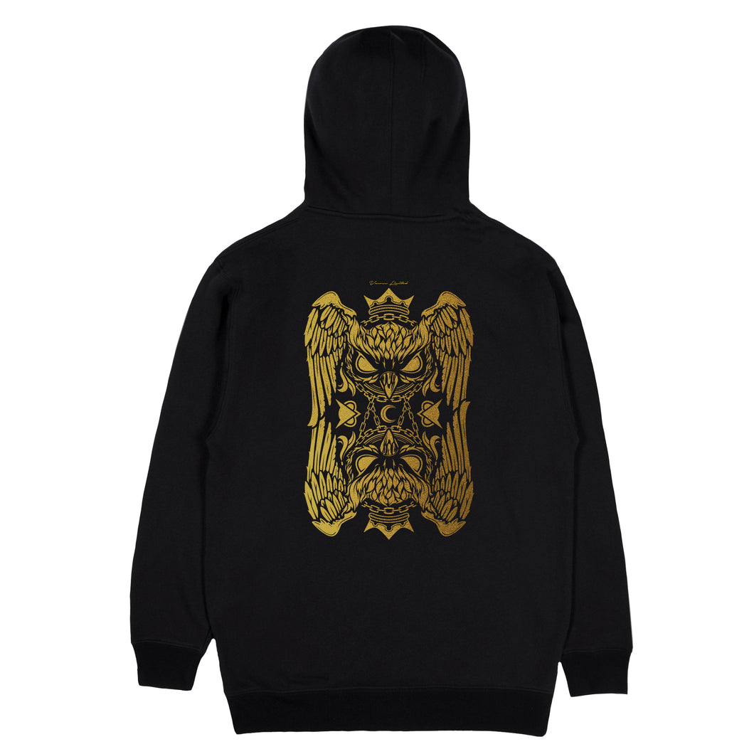 VANOSS® | GOLD HOODINI HOODIE (BLACK) LIMITED EDITION