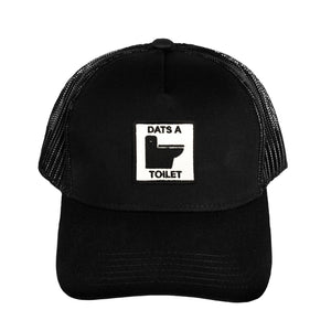 VANOSS® | DATS A TOILET PATCH TRUCKER HAT (BLACK)
