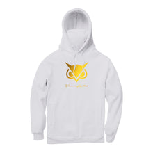 VANOSS® | GOLD LOGO MASKED HOODIE (WHITE) LIMITED EDITION