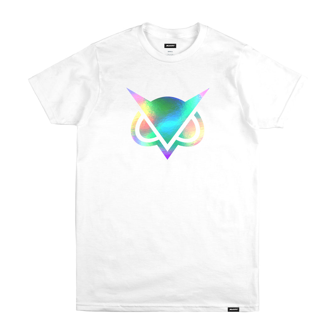 VANOSS® | HOLOGRAPHIC LOGO TEE (WHITE) LIMITED EDITION
