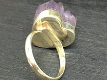 Load image into Gallery viewer, Druzy Amethyst Adjustable Sterling Silver Ring