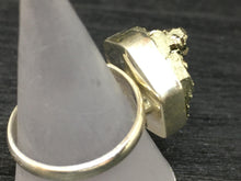 Load image into Gallery viewer, Druzy Pyrite Adjustable Sterling Silver Ring