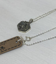 Load image into Gallery viewer, Pyrite Druzy Sterling Silver Pendant Necklace and Earring Set