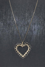 Load image into Gallery viewer, Sterling Silver Heart Pendant Necklace